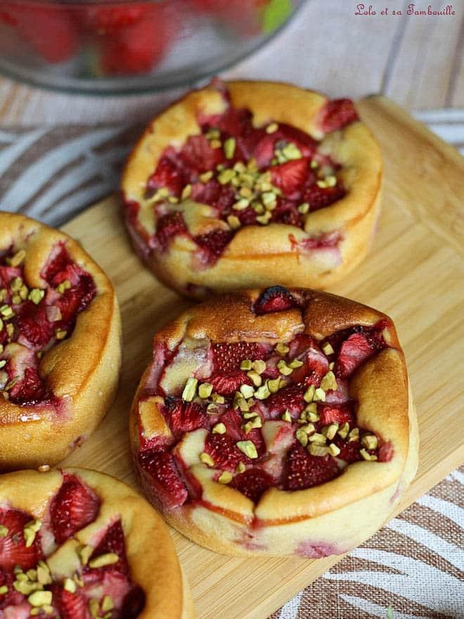 Gâteau fondant ricotta & fraises