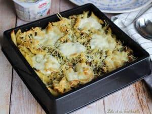 Gratin pâtes courgettes mozzarella