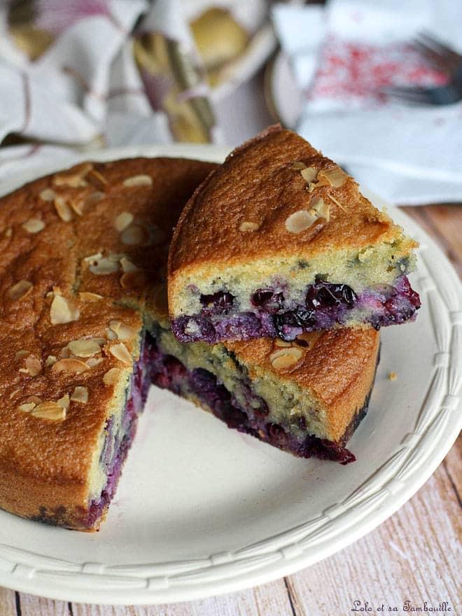 gâteau aux myrtilles, recette avec des myrtilles