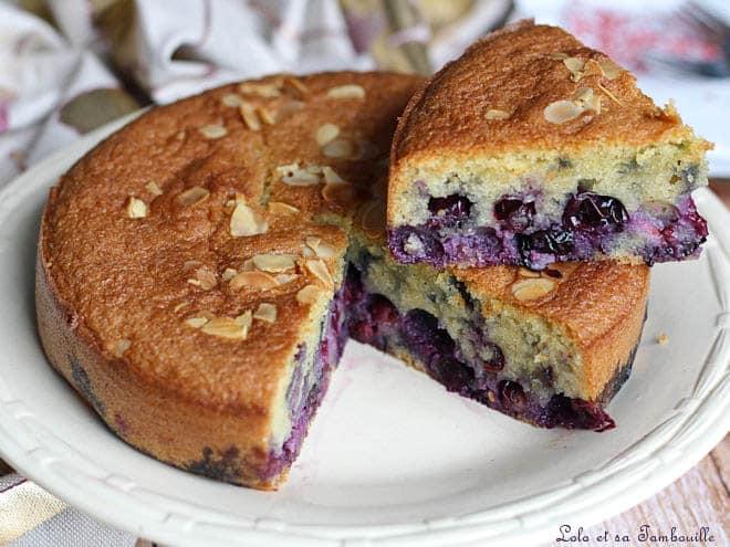 gâteau moelleux aux myrtilles,gâteau myrtilles amandes,gâteau myrtilles moelleux,gâteau myrtilles