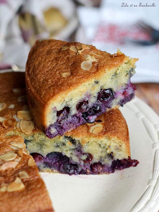 gâteau moelleux aux myrtilles, myrtilles fraiches