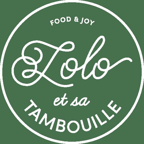 Logo lolo et sa tambouille blanc