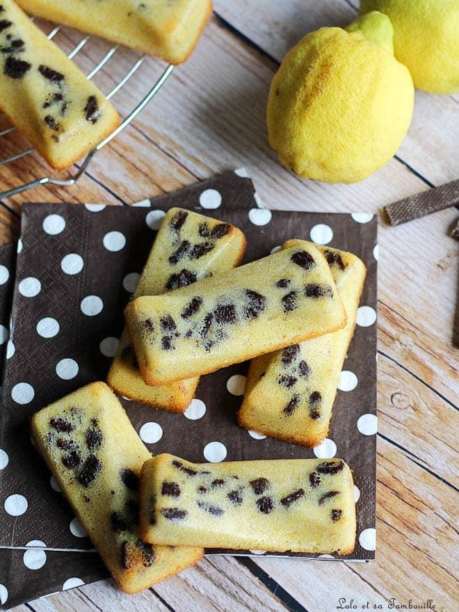 citron, pépites de chocolat