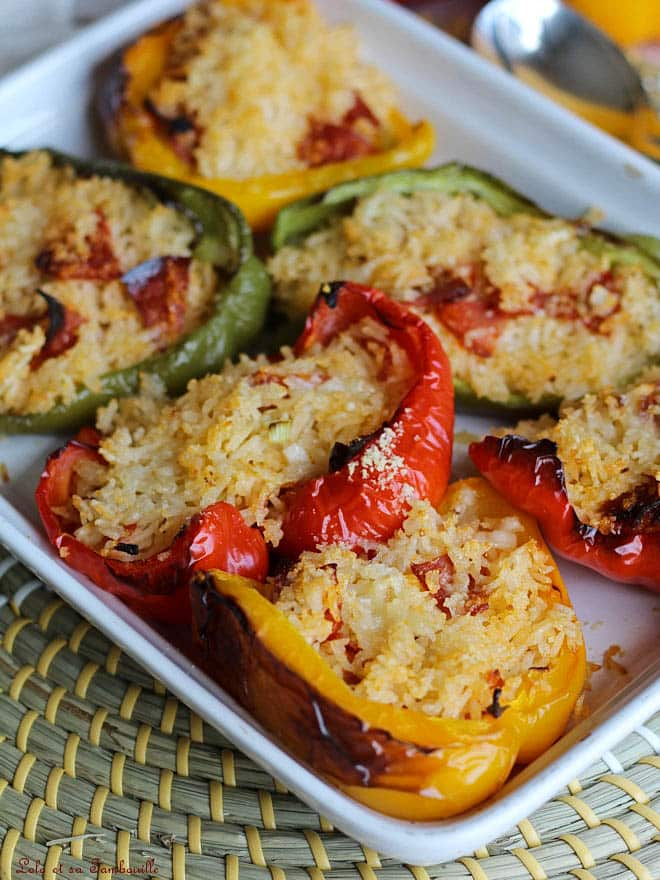 poivron farcis, légumes farcis