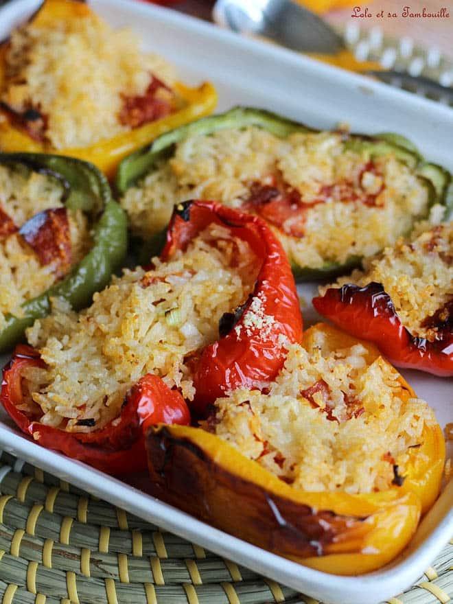 recette de poivron farcis, recette facile, recette de légumes