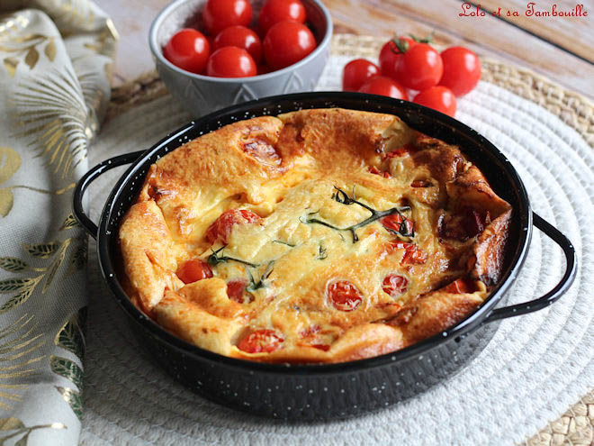 clafoutis salé aux tomates cerises,clafoutis salé tomates cerises,clafoutis salé tomates,clafoutis salé tomates cerises parmesan,clafoutis salé avec tomates cerises