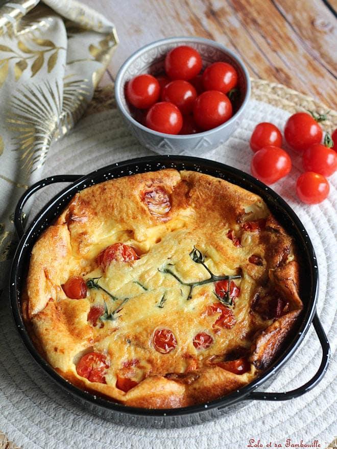 recette de clafoutis salé avec tomates cerises