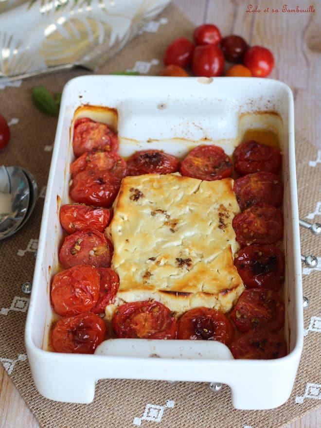 recette feta rôtie, tomates cerises