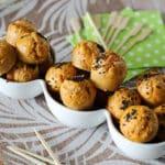 mini muffins à la sauce tomate,mini muffins salés,mini muffins