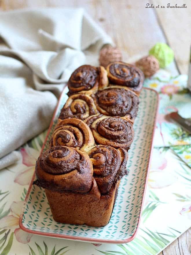 recette de brioche maison avec de la pâte à tartiner