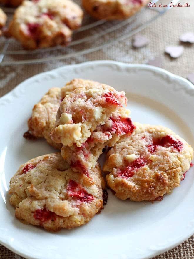 cookies fraises chocolat blanc