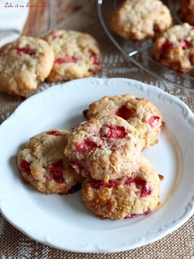 gros cookies aux fraises
