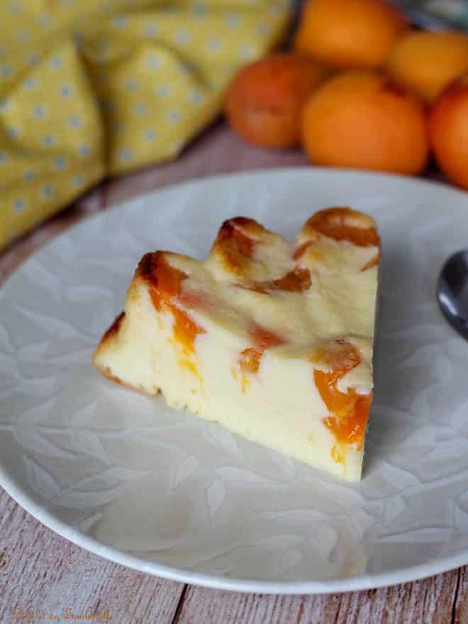 flan avec des abricots, flan au yaourt facile