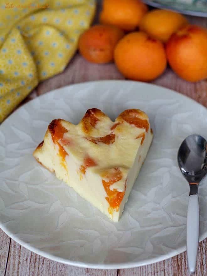 flan avec du yaourt, recette avec des abricots