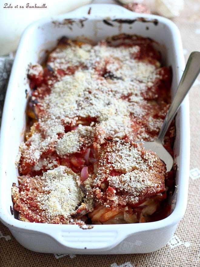 recette de gratin de légumes avec aubergines et tomates
