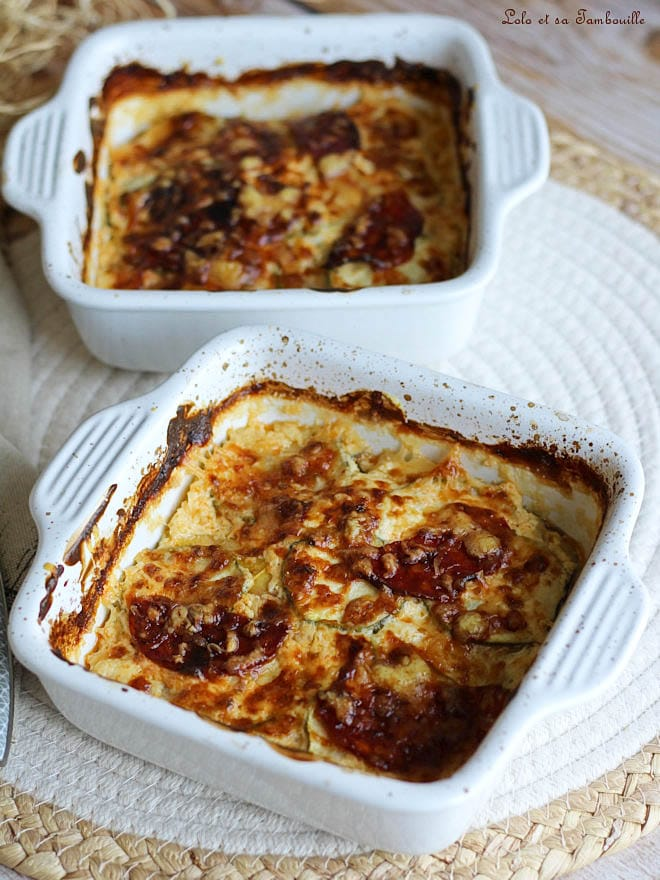 gratin de courgettes au chorizo, recette gratin de courgettes