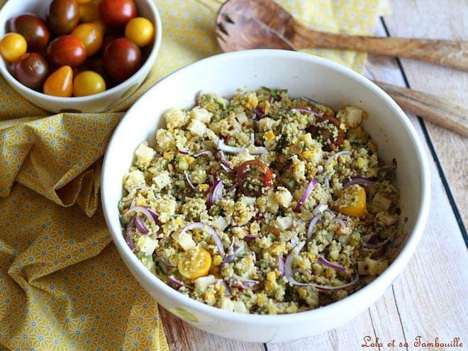 Taboulé aux courgettes,recette quinoa façon taboulé aux courgettes,taboulé maison,taboulé facile