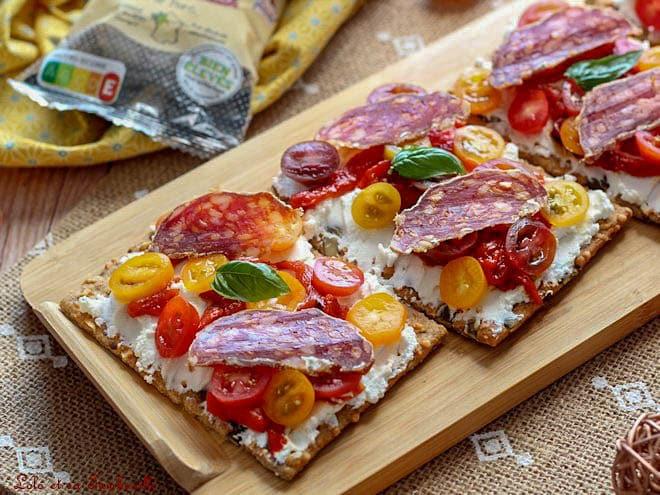 tartines aux tomates cerises,tartines tomates cerises,saucisson sec,saucisson