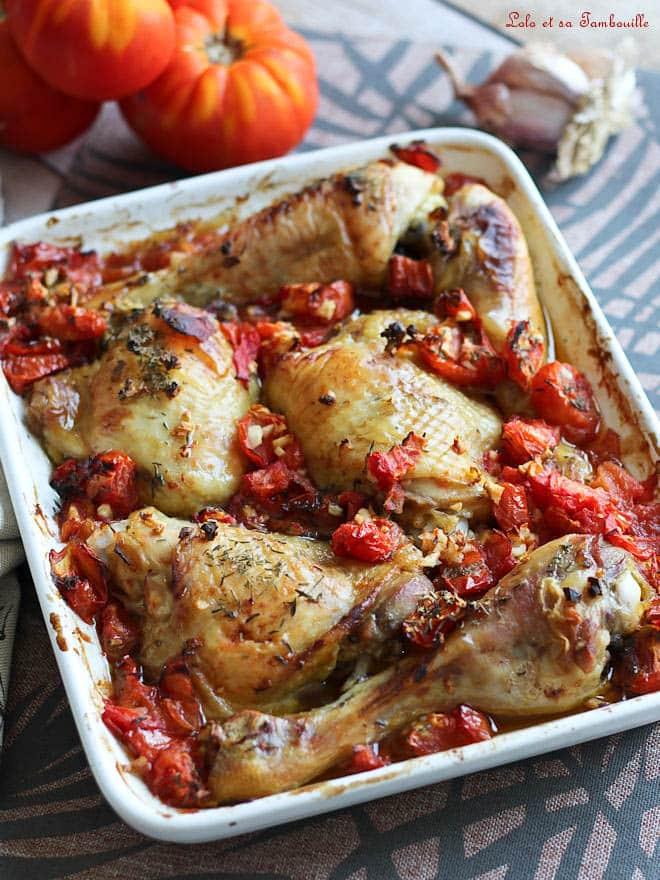 recette rapide avec des cuisses de poulet