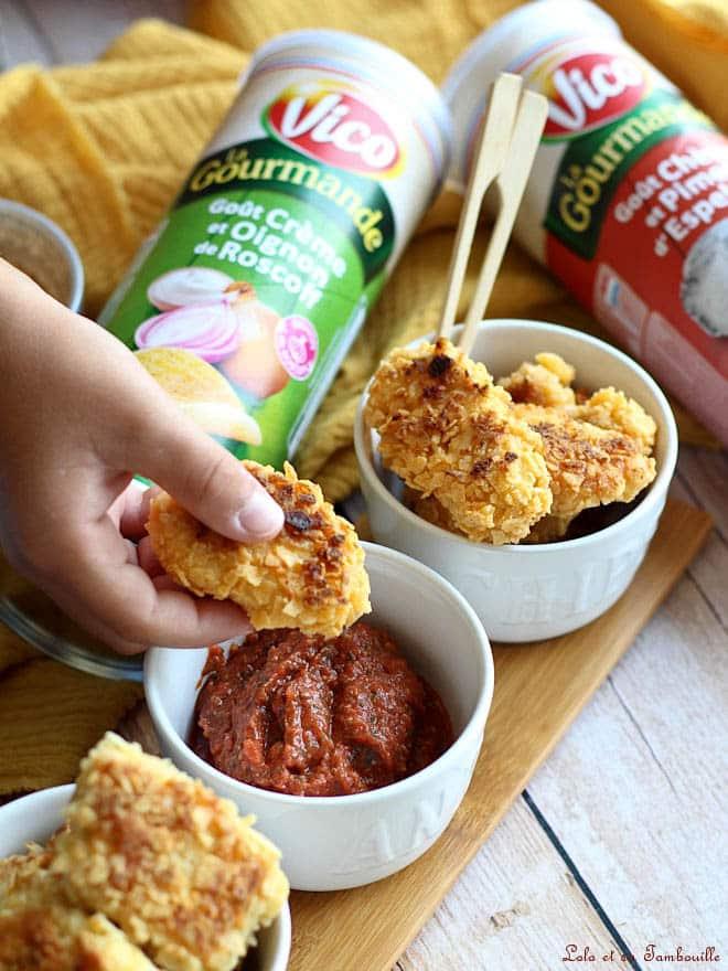 nuggets au chips avec sauce tomate, recette de lolo et sa Tambouille