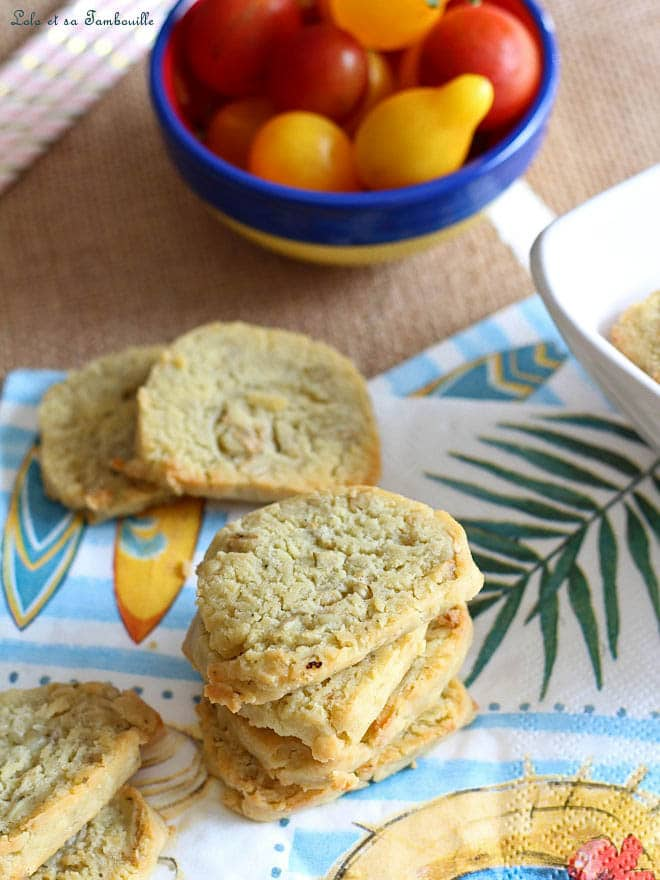 recette de sablés salés, biscuits apéritifs