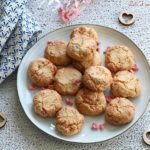 Amarettis aux pralines roses,amarettis moelleux rapides à réaliser,amarettis recette