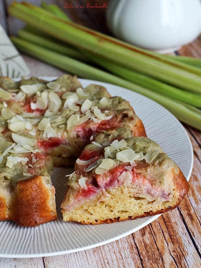gâteau renversé, rhubarbe