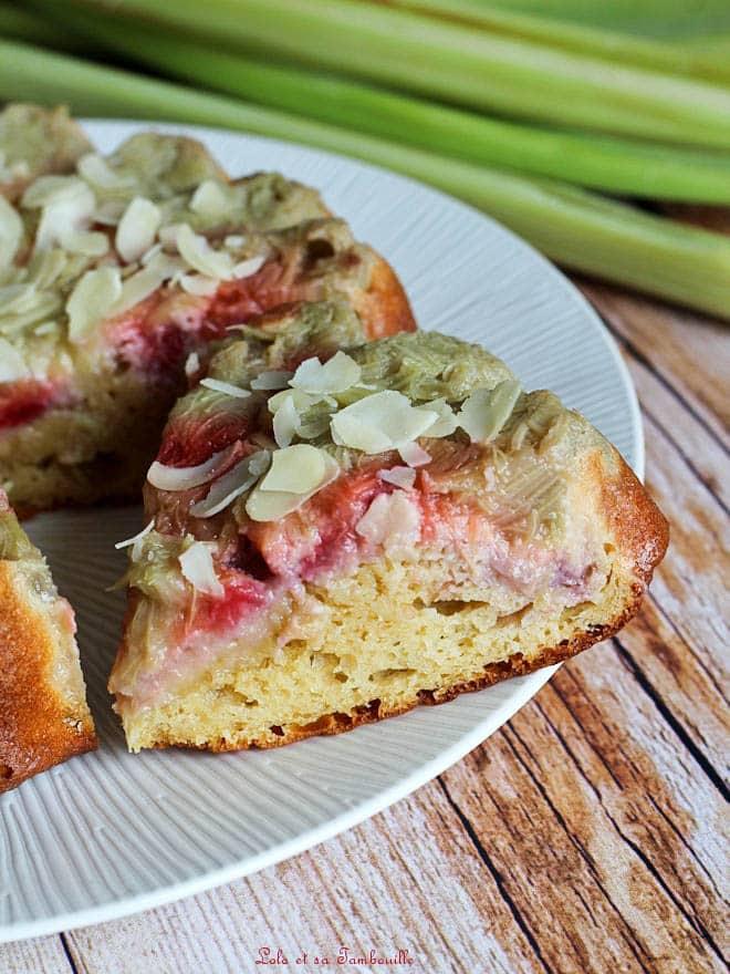 gâteau moelleux rhubarbe, recette allégée
