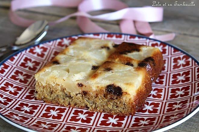 Gâteau aux poires & chocolat